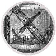 Merz Telescope, Royal Observatory Round Beach Towel