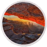 Mesa Arch Sunrises Glow Round Beach Towel