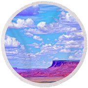 Mesa At Vermilion Cliffs Round Beach Towel