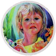Mesmerized Round Beach Towel