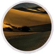 Mesquite Flat Sand Dunes Round Beach Towel