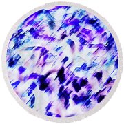 Mess In Blue Tones Round Beach Towel