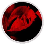 Seduction In Red Round Beach Towel