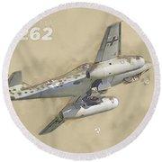 Messerschmitt Me-262 Round Beach Towel