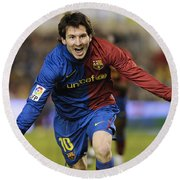 Messi 1 Round Beach Towel