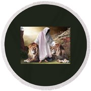 Messiah Israel And Judah Round Beach Towel
