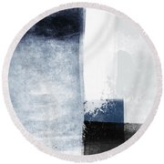 Mestro 3- Abstract Art By Linda Woods Round Beach Towel