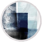 Mestro 4- Abstract Art By Linda Woods Round Beach Towel