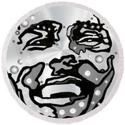 Metal Face 2 Round Beach Towel by Darren Cannell