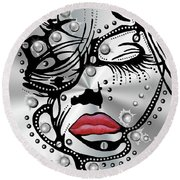 Metal Face Round Beach Towel
