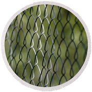 Metal Fence Round Beach Towel