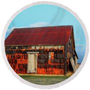 Metal House Round Beach Towel