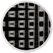 Metal Panel With Holes Abstract Round Beach Towel