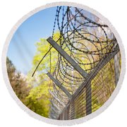 Metal Sharp Barbed Wire Round Beach Towel