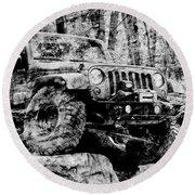Metallic Jeep Jku Wrangler Round Beach Towel