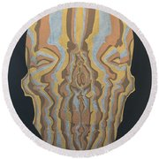 Metallic Skull Round Beach Towel