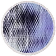 Metallic Weaving Pattern Round Beach Towel