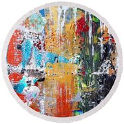 Metallic Winter Round Beach Towel