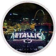 Metallica In Stl Round Beach Towel