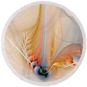 Metamorphosis Round Beach Towel by Amanda Moore