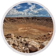 Meteor Crater Round Beach Towel