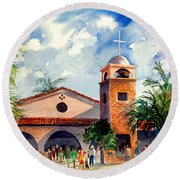 Methodist Church  Gilbert Az Round Beach Towel