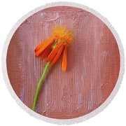 Mexican Flame Round Beach Towel