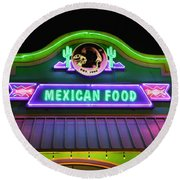 Mexican Food Round Beach Towel