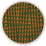 Mexican Poppy Field Abstract Round Beach Towel