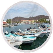 Mexican Transportation Round Beach Towel