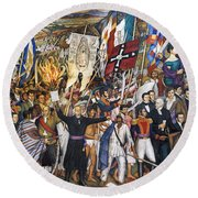 Mexico: 1810 Revolution Round Beach Towel