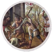 Mexico: Christian Martyrs Round Beach Towel