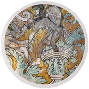 Mexico: Ixmiquilpan Fresco Round Beach Towel