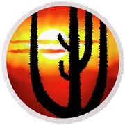 Mexico Sunset Round Beach Towel