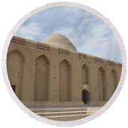 Meybod Ice House Yazd, Iran Round Beach Towel