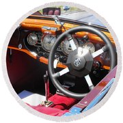 Mg Dashboard Round Beach Towel