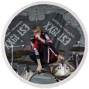 Mgk Drums Round Beach Towel