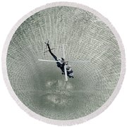 Mh-60r Sea Hawk Helicopter Round Beach Towel