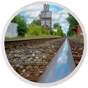 Mi New Haven Rail Road Reflections Round Beach Towel