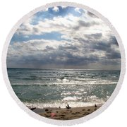 Miami Beach Round Beach Towel