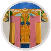 Miami Beach Art Deco Round Beach Towel