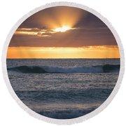Miami Beach Florida Sunrise Round Beach Towel