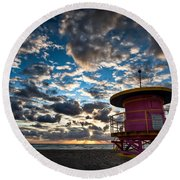 Miami Dawn Round Beach Towel