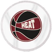 Miami Heat Retro Shirt Round Beach Towel