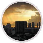 Miami Round Beach Towel