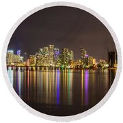 Miami Nights Round Beach Towel