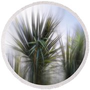 Miami Palms Round Beach Towel