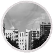 Miami Sky Round Beach Towel