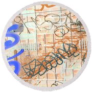 Mic Mouth Inverted Round Beach Towel