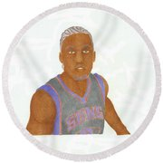 Michael Beasley  Round Beach Towel